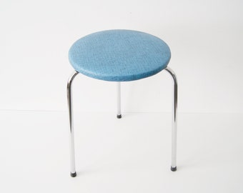 50s stool, stool, kitchen stool round, tripod stool