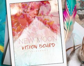 New Moon Vision Board Workbook - New Moon Ritual - Intention Setting - New Moon Intention - New Moon - Moon Workbook