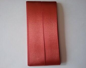 Ribbon 3.5 m satin rust 25 mm wide