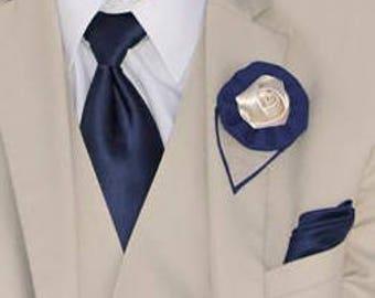 Navy blue Boutonniere, Grooms Boutonniere, wedding boutonniere, groomsmen, wedding accessory, buttonhole, lapel flower