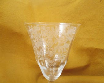 Morgantown Lace Bouquet Water Goblets - set of 3