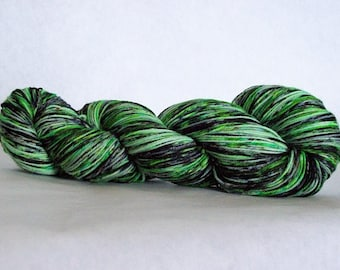 Hand Dyed Yarn/Superwash merino/nylon/Sock Yarn/Envy Green