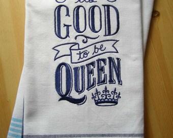 Queen Chalkboard Kitchen Towel