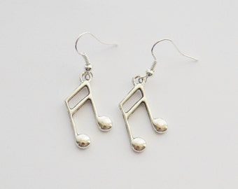 Music Earrings, Music Jewelry, Music Gifts, Musician Earrings, Musician Gifts, Music Note earrings, Music Teacher Gifts, Vocal Coach gifts