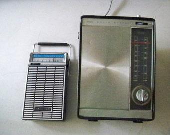Two Vintage Sears Transistor Radios