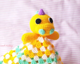 Crochet Dinosaur, crochet security blanket, crochet lovey, crochet amigurumi toy, crochet blanket, crochet animals, crochet plush dino