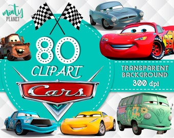 Cars Clipart Characters Full Quality Transparent Background 300dpi Instant Download