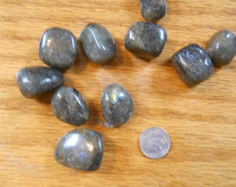 Lovely polished labradorite pieces! Three pieces!
