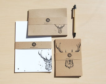 Boxed Letter Writing Set with Cards and Envelopes – Stationery Gift Set, Deer