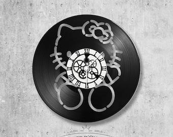 Vinyl 33 clock towers Hello Kitty theme