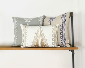 Personalized Navajo Inspired Pillows | 12x18, 16x16 Decorative Pillow Case, Cushion Cover | Aztec, Native American, Tribal Southwestern