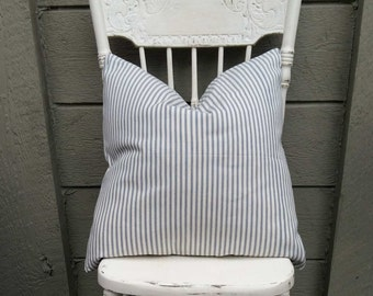 Farmhouse Ticking Pillow Cover - 20 x 20  inch