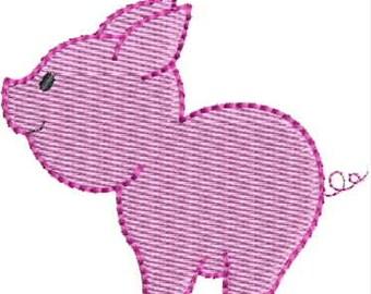 Mini Pig machine embroidery designs