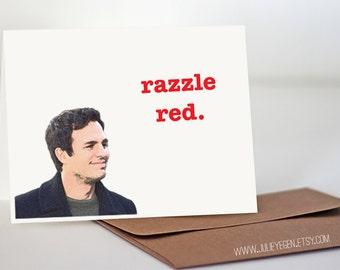 Birthday / Love / Friend Card | Razzle Red