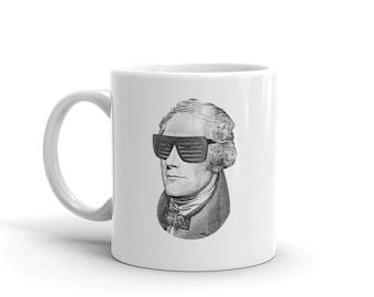 Hamilton Mug. 2 sided Alexander Hamilton musical coffee cup. Broadway theater fan gift.
