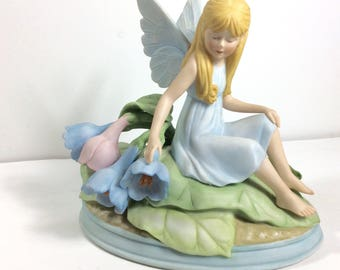 1984 Limited Edition Faerie Seasons Meadow Nymph numbered porcelain figurine.