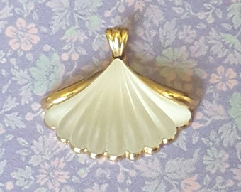 Vintage Avon Frosted Glass Fan Pendant