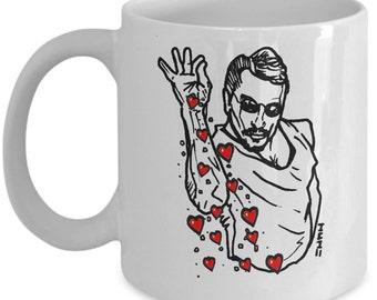 Salt bae hearts meme mug - Saltbae guy gift cup - saltbae, salt bae heart sprinkle