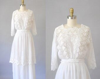 Isobel edwardian dress    vintage 1910s skirt & blouse   vintage edwardian dress