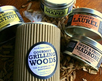 FATHER'S DAY!- BBQ Gourmet Grill Wood Sampler, Dad, Cook, Smoker,Stocking, Grilling