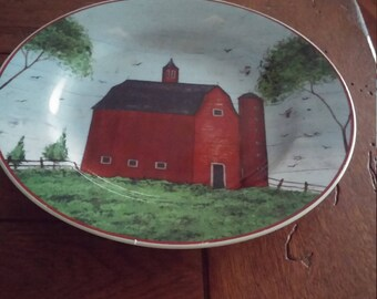 Warren Kimble Barn with Silo Collectible Plate