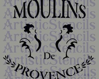 STENCIL French Moulins de Provence 10x9