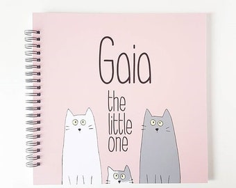 CAT book cover, Modern Baby Book, Baby Memory Book, Baby Shower Gift, Baby Journal, Baby Shower, Baby Album, Keepsake, Gift