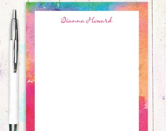 personalized notePAD - ABSTRACT ART 4 - stationery - stationary - letter writing paper