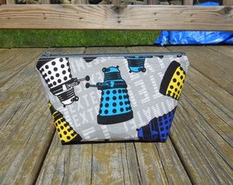 Extra Small Makeup Bag, Doctor Who Makeup Bag, Daleks Makeup Bag, Daleks, Doctor Who