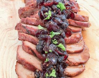 Items similar to beef with broccoli recipe pdf chinese takeout on etsy pork loin with maple honey cranberry sauce recipe pdf thanksgiving autumn winter forumfinder Images