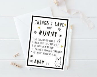 Personalized Mothers Day Card, Mummy Card, Mother's Day Card, Mothers Day Card Funny, Mothering Sunday, Happy Mother's Day, Mum Card