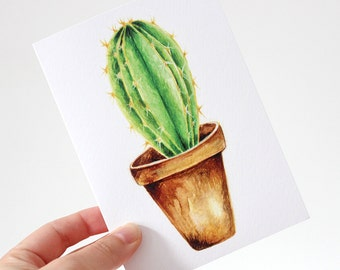 Cactus Greeting Card Long Spikes