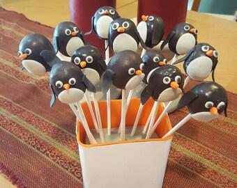 Penguin cake pops (Order of 13)