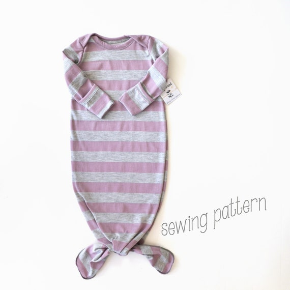 Items similar to Knot gown sewing pattern. Newborn gown. PDF pattern ...