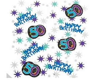 50's Confetti The Party Continues Confetti 2 oz 50th Happy Birthday Decorations