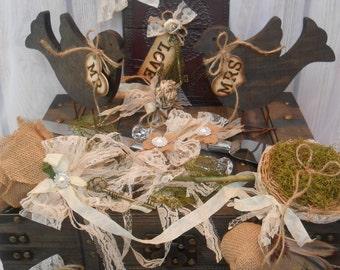 Wedding Card Box / Wedding Trunk Set / Wedding Card Holder / Wedding Cake Topper / Wedding Package / Guest Book / Ring Bearer / Cake Server