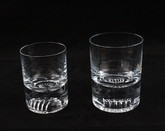 Ichendorf Whiskey glasses in 2 sizes with pattern in the ground