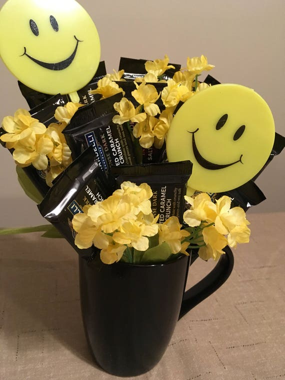 Smiley Face Candy Bouquet Smiles Candy Basket Chocolate