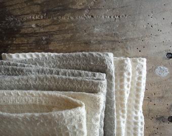 soft WASH GLOVE / MITTEN, handmade from soft linen,hemp or organic cotton pique