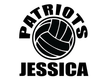 Personalized Volleyball Decal - Custom Sticker for Players and Volleyball Mom and Family