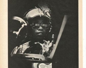 1977 Advertisement Bobbye Hall Celebrity Drum Percussionist Body Language For Lovers Soul Jazz Jam Practice Music Studio Room Wall Art Decor