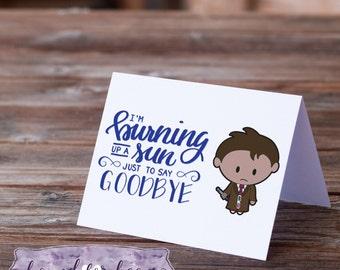 Say goodbye print etsy burning up a sun to say goodbye printable greeting card 5 x 7 stopboris Images