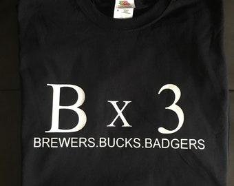Bx3 Brewers. Bucks. Badgers