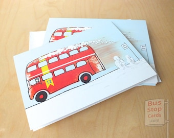 Routemaster London Bus Christmas Cards
