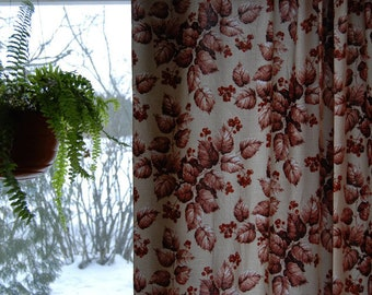 70's plant curtains, two pieces