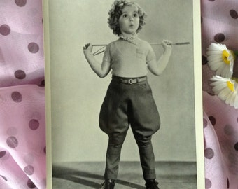 """Vintage photo Shirley Temple 1936 original 5""""x7"""" Fox publicity still for """"Poor Little Rich Girl"""" classic movie, authentic BW photograph"""