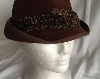 Vintage Fedora -made in France by  Filene's