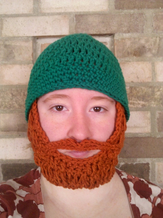 St. Patrick's Day Adult Beard Beanie, Irish Adult Beard Beanie, St. Patrick's Day Adult Costume, St. Patrick's Day Party Hat, Irish Party