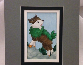 "Skiddo Original Fan Art - Pre-matted to 8""x10"""