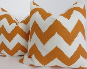 Orange Pillow Cover, White Orange Pillow, Pillow Cover, Orange Pillow, Chevron Pillow,Pillow Lumbar,Pillow Covers, Chevron Pillow